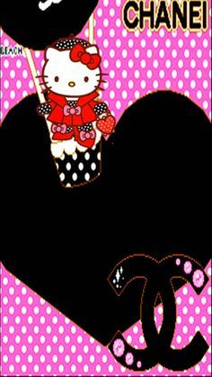 Sanrio Characters, Disney Characters, Fictional Characters, Chanel Background, Chanel Wallpapers, Kitty Games, Chanel Logo, Hello Kitty, Minnie Mouse