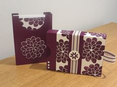 Card gift set box, video tutorial using Flower Patch by Stampin' Up