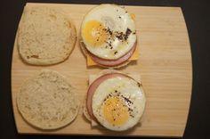 DIY Egg McMuffins, 7 points plus, under 300 calories