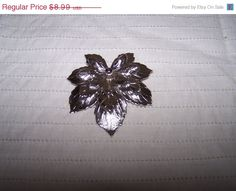ON SALE Sarah Coventry signed SAC silvertone leaf by vintagebyrudi
