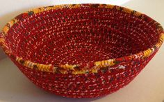 A personal favorite from my Etsy shop https://www.etsy.com/listing/219008038/fabric-pottery-coiled-fabric-bowl-blue