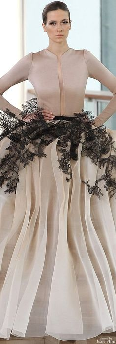 Stéphane Rolland Couture Spring 2015--The use of lace and drape on this skirt are quite unique. Love it!