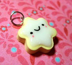 Kawaii Happy Iced Lemon Cookie Pendant Polymer Clay Charm Miniature Food Jewelry - Handmade by The Happy Acorn. $11.00, via Etsy.