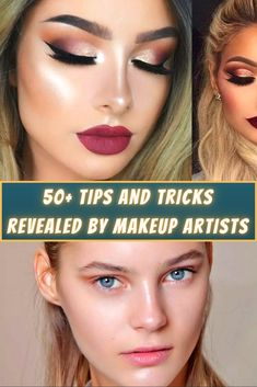 New year, new you! Maybe one of your resolutions this year is to get more enthusiastic about applying your makeup every morning or to try a new eyeshadow shade, or maybe you are just looking for new ways to get the best bang for your buck. We did the research for you and found a bunch of makeup hacks revealed by actual makeup artists themselves. Hopefully one of these tips will come in handy!