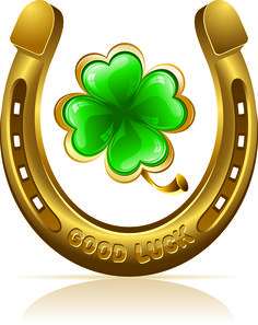 Horseshoe and clover Royalty Free Vector Image , Four Leaf Clover Tattoo, Clover Tattoos, Free Vector Images, Vector Free, August Calendar, Lucky Symbols, Lucky Horseshoe, Iris Folding, Butterflies