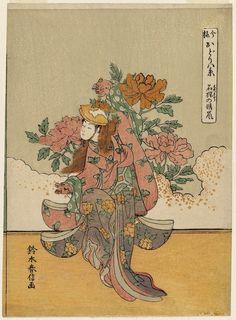 Suzuki Harunobu: Clearing Weather of the Lion Dance (Shakkyô no seiran), from the series Eight Views of Dances in the Modern Style (Imayô odori hakkei) - Museum of Fine Arts