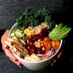Organic Rice, Black Quinoa and Chicken Bowl with Spicy Beer Molasses BBQ Sauce | Nancy's Cravings