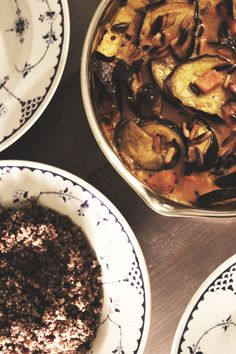 Vegetarian curry with aubergine, sweet potato and coconut milk