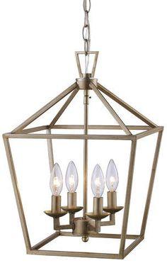 Modern Farmhouse | Carmen 4-Light Pendant | Foyer | Entryway | Wayfair | On Sale | Rustic | Lighting #ad