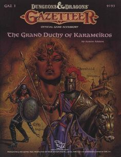 GAZ1 The Grand Duchy of Karameikos (Basic) | Book cover and interior art for Dungeons and Dragons Basic and Expert Editions - Dungeons & Dragons, D&D, DND, Basic, Expert, 1st Edition, 1st Ed., 1.0, 1E, OSRIC, OSR, Roleplaying Game, Role Playing Game, RPG, Wizards of the Coast, WotC, TSR Inc. | Create your own roleplaying game books w/ RPG Bard: www.rpgbard.com | Not Trusty Sword art: click artwork for source
