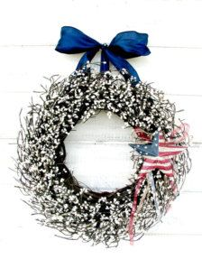 natural 4th of july wreath