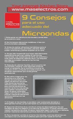 Infografía con 9 Consejos para el uso adecuado del Microondas. Muy didáctico :P