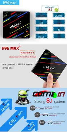 H96 Max Plus RK3328 4GB RAM 64GB ROM Android 8.1 USB3.0 5G WIFI TV Box Support HD Netflix 4K Youtube - EU Internet News, 4gb Ram, Photography Camera, Wifi, Netflix, Android, Usb, Youtube, Electronics