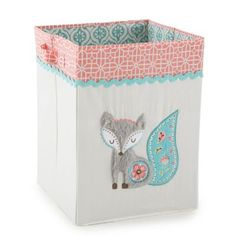 Create a sweet woodland nursery for your little one with the Fiona Crib Bedding Collection from Levtex Baby. The Storage Hamper features a plush fox applique with embroidered details and charming prints, perfect for laundry, toys and more. Fox Nursery, Woodland Nursery, Girl Nursery, Girl Room, Baby Room, Nursery Decor, Nursery Ideas, Woodland Baby, Animal Nursery