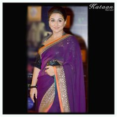 Vidya Balan in a stunning Purple Saree Purple Saree, Vidya Balan, Holi, Spirituality, Fashion, Moda, Fashion Styles, Holi Celebration, Spiritual