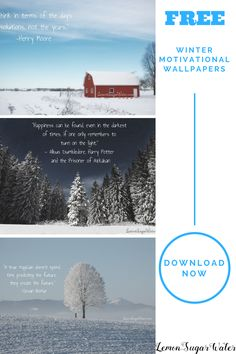 Baby it's cold outside! That doesn't mean we have to wither up and lose all motivations. These beautiful winter themed motivational wallpapers will encourage you to keep focusing on your goals and success.