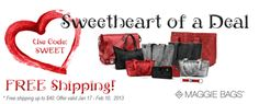 Sweetheart of a Deal - Free Shipping! | Maggie Bags #Free #MaggieBags #deals