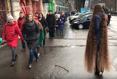 long hair and admirers