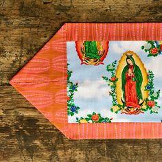 A personal favorite from my Etsy shop https://www.etsy.com/listing/544898472/la-virgen-de-guadalupe-tablerunner-altar