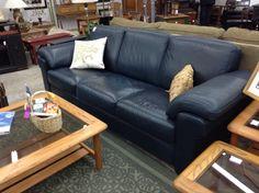 navy blue leather sofa. Natuzzi Leather Sofa. CouchesNavy Blue Navy Sofa