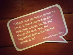 One of our favorite wall quotes from #ECET2 in Snowbird with the Gates Foundation. Couldn't agree more!