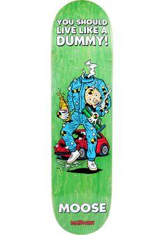 Deathwish Moose-Mascot-Mayhem, Deck, green Titus Titus Skateshop #Deck #Skateboard #titus #titusskateshop