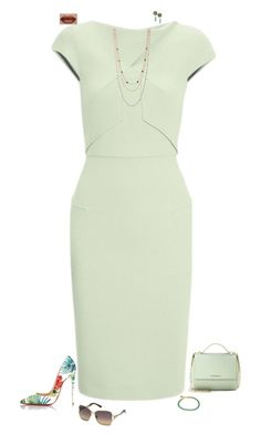 """""""Green mint"""" by julietajj on Polyvore featuring Roland Mouret, BCBGeneration, Givenchy, Christian Louboutin, Astley Clarke and Swarovski"""