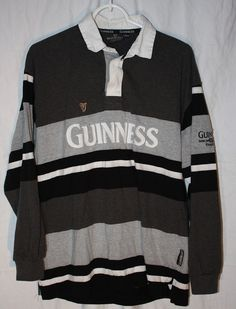 Guinness Pullover Shirt Official Merchandise Long Sleeve Nice Beer Pure Genius #Guinness #PoloRugby