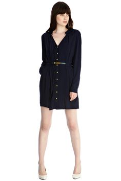 V Neck Shirt Dress | Blue | Oasis Stores