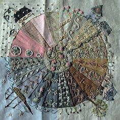 Inspiration on blog not in English. Love the colours and stitch work. Gypsy Quilt: ECP