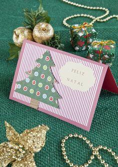 Cartão de Natal personalizado de scrapbooking - DIY, Christmas, Craft, Upcycled
