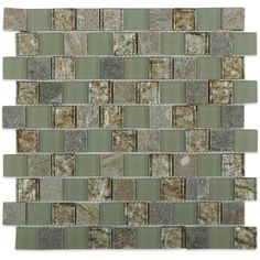 Splashback Tile Inheritance Thunder Clouds Marble and Glass Mosaic Wall Tile - 3 in. x 6 in. Tile Sample