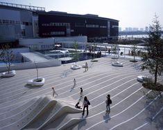LaLaport Toyosu by EARTHSCAPE « Landezine | Landscape Architecture Works #urbanlandscapearchitecture