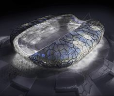 Main Stadium for the 2014 Winter Olympic and Paralympic Games in Sochi by Populous Stadium Architecture, Parametric Architecture, Concept Architecture, Futuristic Architecture, Amazing Architecture, Sustainable Architecture, Architecture Design, Winter Olympics 2014, Winter Olympic Games