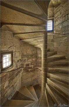 Langeais chateau spiral stair