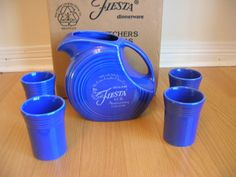 Fiestaware Sapphire pattern 60th anniversary edition.