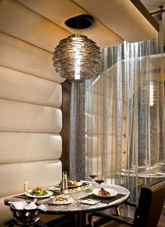Restaurant Chandelier Lighting design of Atlantis Steakhouse, Reno, Nevada