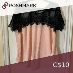 Torrid blush pink top with black lace top Used but still in great condition! Blush Pink Top, Black Lace Tops, Plus Fashion, Fashion Tips, Fashion Trends, Pink Tops, Torrid, Blouses, Things To Sell