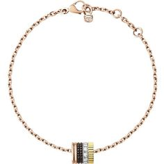 BOUCHERON Quatre Classique 18ct white, yellow and pink-gold and... ($4,325) ❤ liked on Polyvore featuring jewelry, bracelets, boucheron jewelry, yellow bangles, red gold jewelry, rose gold jewelry and pink gold jewelry