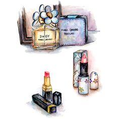 Marc Jacobs Daisy Perfume, Daisy Jacobs, Beauty Illustration, Cute Illustration, Makeup Clipart, Makeup Poster, Makeup Wallpapers, Beautiful Perfume, Beauty Art