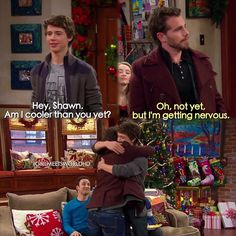 "#GirlMeetsWorld 1x16 ""Girl Meets Home for the Holidays"" - Joshua and Shawn"