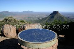 View from the Toposcope in the Camdeboo National park.  The Valley of Desolation is to the right & the aerial view of the town of Graff-Reinet to the left - an amazing spot in South Africa - everyone should visit     For more information on Graaff-Reinet & the activities in & around the Camdeboo National Park - visit www.camdeboocottages.co.za     #travel #Karoo #EasternCape #GraaffReinet #Camdeboo #SouthAfrica