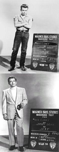 James Dean wardrobe tests for Giant (1956)