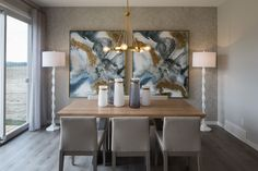 Projects | Rochelle Cote. The dining room. From the Olympia Showhome.