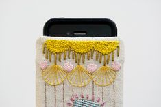 embroidered iphone pouch - karen barbé