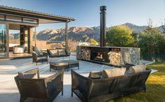 Escea EW5000 Outdoor Wood Fireplace | Design by Condon Scott | Photography by Simon Devitt Outdoor Wood Fireplace, Outdoor Fireplaces, Installing A Fireplace, Fireplace Design, Design Trends, Design Inspiration, Patio, Architecture, Outdoor Decor