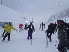 Van Campitello richting St. Christina en weer terug. Snow Experience Dolomieten Super Skisafari 2014.