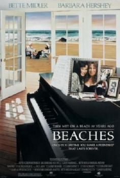 Beaches Movie poster Metal Sign Wall Art 8in x 12in