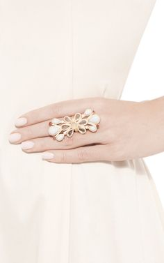 Long Pastel Fractale Ring by Gripoix for Preorder on Moda Operandi