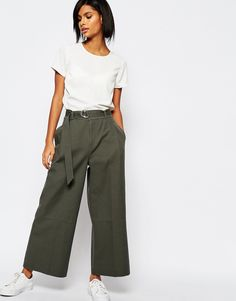 Image 1 of Whistles Cropped Wide Leg Trouser